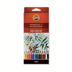 Набор акварельных карандашей KOH-I-NOOR MONDELUZ 12 цв. шестигранные
