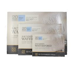 Акварельная бумага Saunders Bockingford CP White 300 г/м, 4 рваных края 56х76 см
