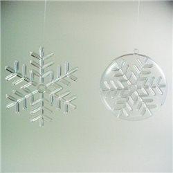 Снежинки пластиковые (4 вида по 2 шт.: 45, 55, 65, 75мм)