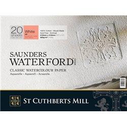Акварельная бумага Saunders Waterford HP+White 300 г/м, 2 рваных края 56х76 см