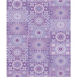 Бумага для техники DECOPATCH 30х40 / Фиолетовый орнамент с кругами