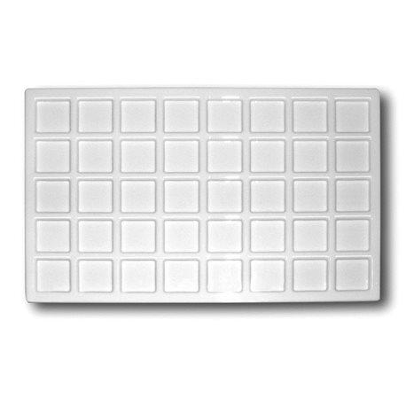 Палитра пластиковая 22x33 см, 40 ячеек