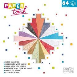 Блок бумаги 30*30см 64л/64 видов фактур и дизайна