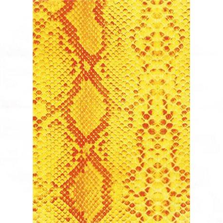 Бумага для техники DECOPATCH 30х40 / Змеиная кожа/ желт