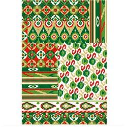 Бумага для техники DECOPATCH 30х40 / Геометрический орнамент (зелен.)