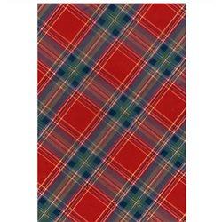 Бумага для техники DECOPATCH 30х40 / Красно-синяя шотландка