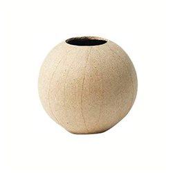 Ваза - шар / папье-маше/ 11х11х10,5 см