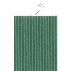 Картон цв. гофриров. мелкий. 230г/м, 50х70 см /Зеленый бутылочный.