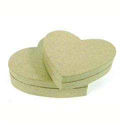 Коробочка- сердечко / папье-маше/ 13*11*3,5 см