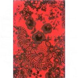 Бумага для техники DECOPATCH 30х40 / Черные кружева на красном