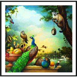 Натюррморт с павлинами- картина по номерам