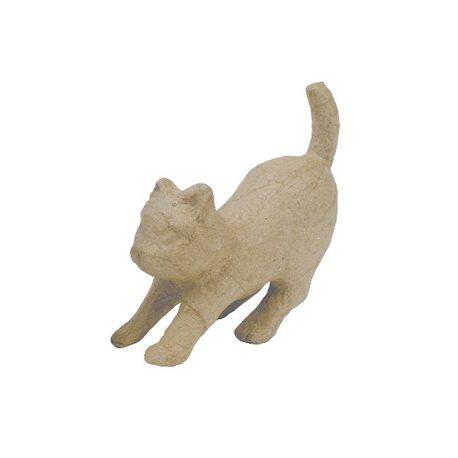 Атакующая кошка / папье-маше/ 5х12х11,5см