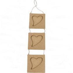 """3 рамки """"сердечки"""", на подвесе/ папье-маше/8х29см"""