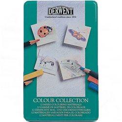 """Набор """"Colour Collection"""" /цв.карандаши,пастель /12 шт в мет.кор."""