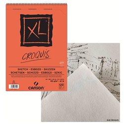 Альбом для набросков на спирали Canson XL, A3, 120л, 90 гр