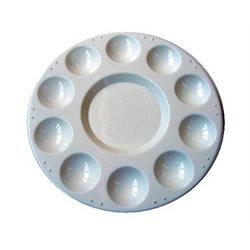 Палитра пластиковая круглая диам.31 см.