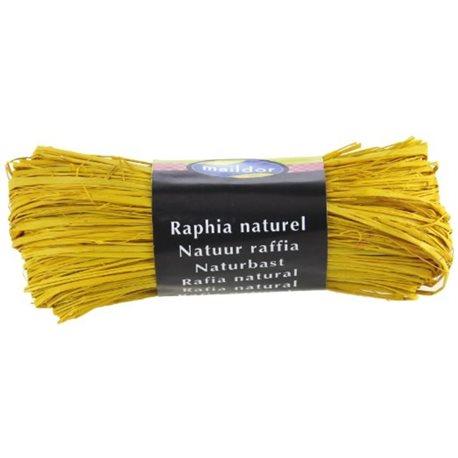 Бечевка из пальмового лыка RAFIA (натур)/ для подарочн. упаковки/Лимон