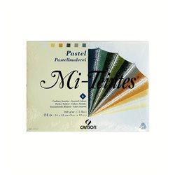 Склейка пастельной бумаги Митант в ассорт/6цв/24х32см, 24л.