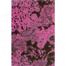 Бумага для техники DECOPATCH 30х40 / Розовые кружева на черном