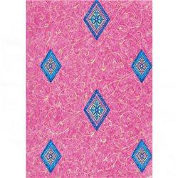 Бумага для техники DECOPATCH 30х40 / Ромбы, розовый фон