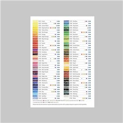 Лефлет Colour Chart Derwent / выкраска