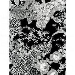 Бумага для техники DECOPATCH 30х40 /Белые кружева на черном