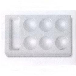 Палитра пластиковая плоская 7х12 см