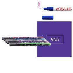 Фиолетовый. Акриловый маркер DARWI Acryl Opak 1мм