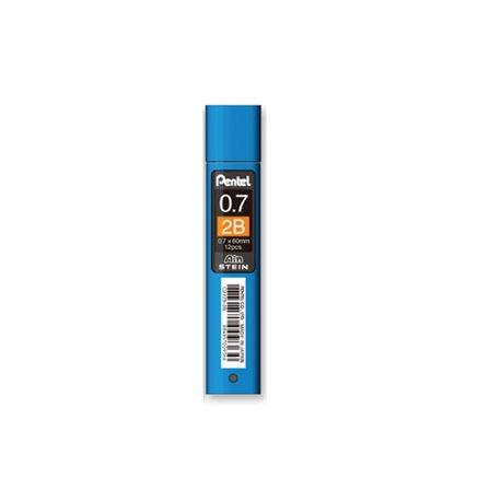 Грифели для карандашей автоматич. Ain Stein 0.7мм. 12шт.2B
