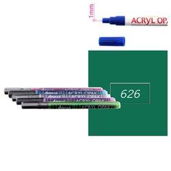 Зеленый темный. Акриловый маркер DARWI Acryl Opak 1мм