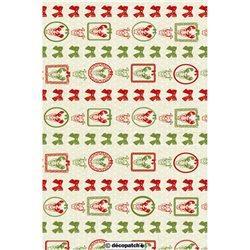 Бумага для техники DECOPATCH 30х40 / Рождественский орнамент