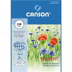 Альбом для акварели Student A5, 250 г/м2, 10 л.