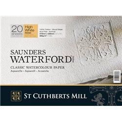 Блок акварельной бумаги Saunders Waterford Rough HIGH WHITE 300 г/м, 31х41 см, 20 листов, крупное зерно