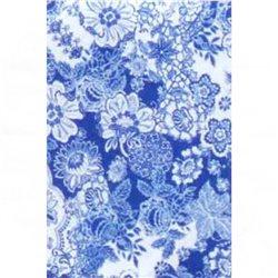 Бумага для техники DECOPATCH 30х40 / Цветочный орнамент голубой