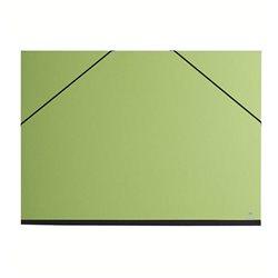 Папка для хранения работ 52х72/ картон, с резинк./ зеленая