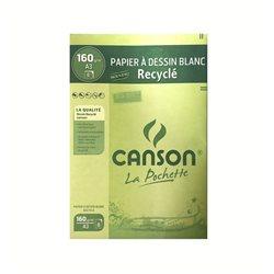 Бумага для рисования и набросков Canson, А3, 8 л, 160г.