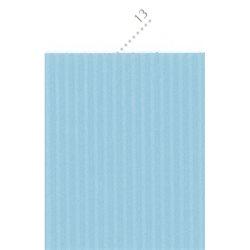 Картон цв. гофриров. мелкий. 230г/м, 50х70 см /Французский голубой.