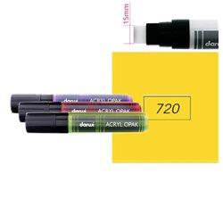 Желтый глубокий. Акриловый маркер DARWI Acryl Opak 15мм