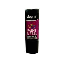 Краска контурная трансфертная Paint & Peel/ Черная 80 мл
