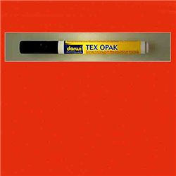 Маркер по текстилю DARWI Tex Opak 6 мл/ Киноварь/ круглый. наконечн.