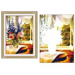 Букет с колокольчиками - мозаичная картина