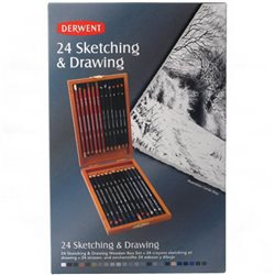 "Набор ""Derwent Sketch/Draw в дерев. коробке / 24 шт."