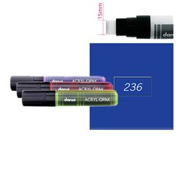 Синий глубокий. Акриловый маркер DARWI Acryl Opak 15мм