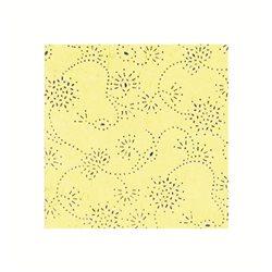 Бумага с объемными блестками 50х70 БЛЕДНО-ЛИМОННАЯ/ 120 г/м