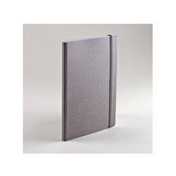 Ноотбук серый с резинкой А6, 80 листов в точку 85 г/м2