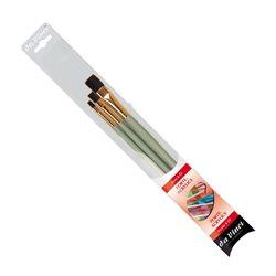 Набор кистей Da Vinci Forte синтетика плоск./ 3 шт.
