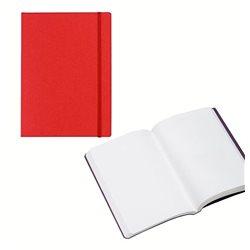 Ноотбук малиновый с резинкой А5, 80 листов 85 г/м2