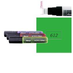 Зеленый прочный. Акриловый маркер DARWI Acryl Opak 15мм