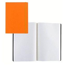 Ноотбук оранжевый с резинкой А5, 80 листов 85 г/м2