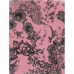 Бумага для техники DECOPATCH 30х40 / Черные кружева на розовом